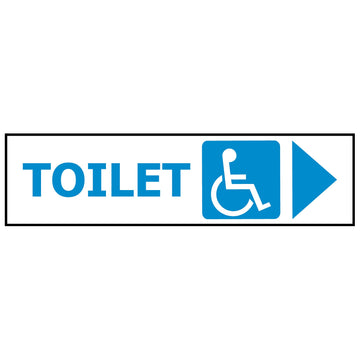 DISABLED TOILET - ARROW RIGHT GS1215