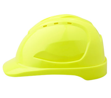 Vented Hard Hat Fluoro Yellow 9 Point ventilation
