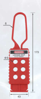 Lockout Hasp Long 43x173