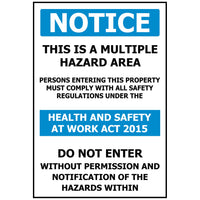 NOTICE This is a Multiple Hazard Area