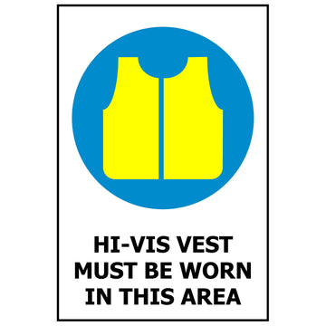 Hi-Vis Vest Must Be Worn