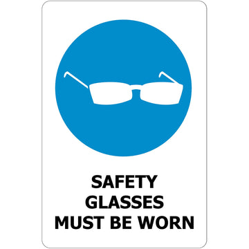 Safety Glasses Must Be Worn