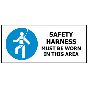 Safety Harness Must be Worn In This Area