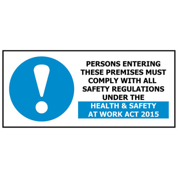 Persons Entering These Premises Must Comply
