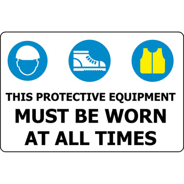 450x300 HEAD & FOOT PROTECTION & HI VIS MUST BE WORN