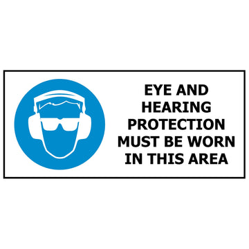 Eye and Hearing Protection Must Be Worn MS640