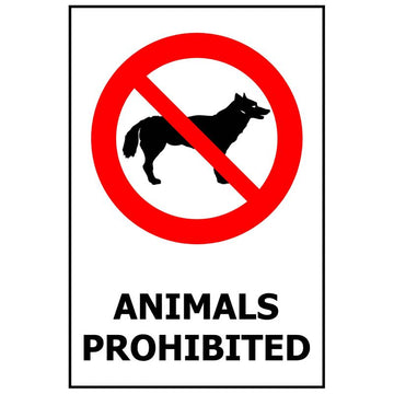ANIMALS PROHIBITED