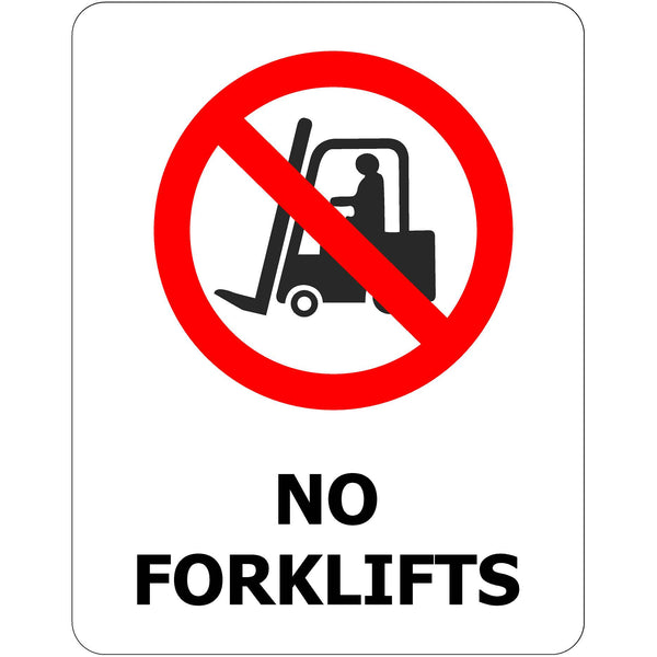 170x250 No Forklifts - Self Adhesive