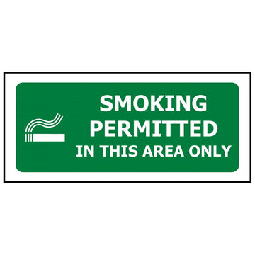 SMOKING PERMITTED IN THIS AREA ONLY