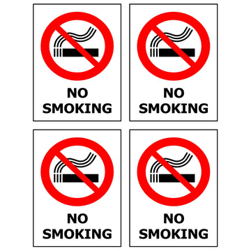 40x50  Card of 4 No Smoking - Self Adhesive