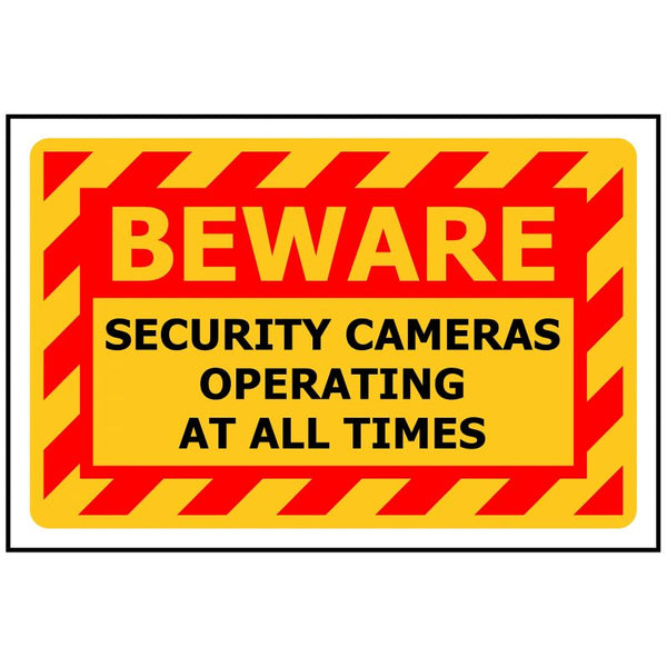 BEWARE Security Cameras Operating