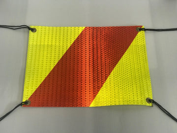 Single Hazard Panel Flag with eyelets & ties