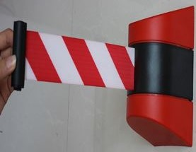 Wall Mounted Red / White Retractable Belt 3m