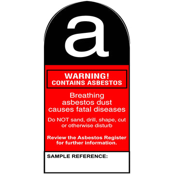 125 x 245 Warning Contains Asbestos (curved top)