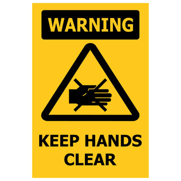 100x150 WARNING Keep Hands Clear