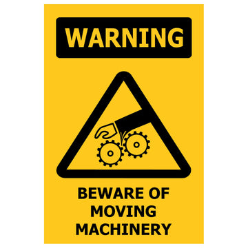 100x150 WARNING Beware Of Moving Machinery