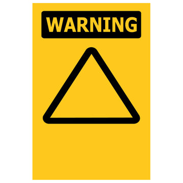 100x150 WARNING Custom - Self Adhesive