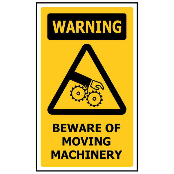 WARNING Beware of Moving Machinery WS224
