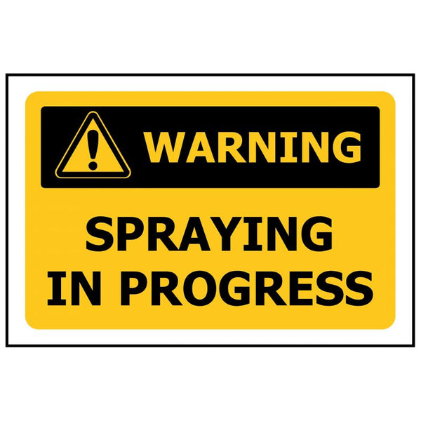 WARNING Spraying in Progress