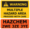 Warning Multiple Hazard Area / HAZCHEM