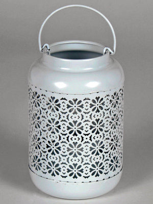 Patterned Cream Lantern