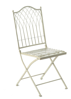Set of two Hampton Foldable Chairs - Cream