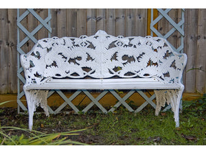Coalbrookdale Bench in White