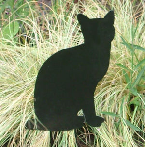 Black Cat Garden Ornament