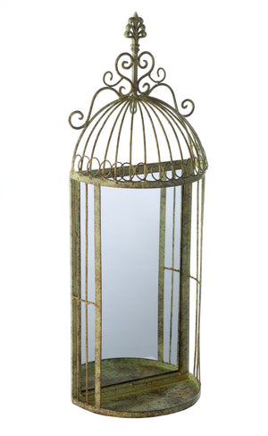 Broughton Antique-style Metal Mirror
