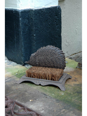 Cast Iron Hedgehog Boot Scraper