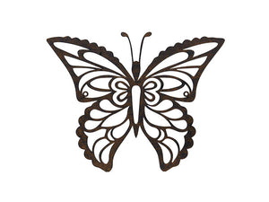 Butterfly Wall Plaque Finished in a Rust Effect