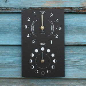 Moon and Tide Clock - Recycled and Environmentally Friendly