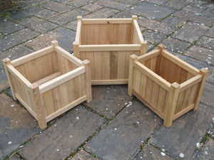 Square/Rectangular Hardwood Planters
