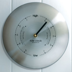 Eco Recycled Tide Clock - Stainless