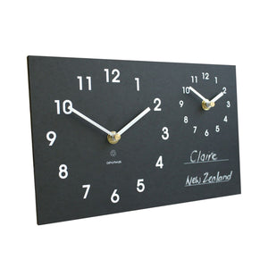 Recycled Time Zone Clock - Environmentally Friendly