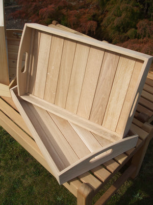 Hand Made Tea Tray in Iroko