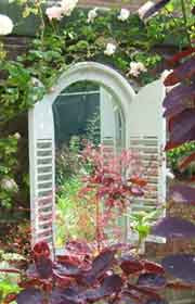 Shuttered Arch Window Mirror (Shabby Chic style)