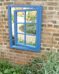 Ajar Window Garden Mirror to add light and illusion
