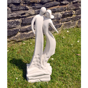 First Date White Contemporary Statue