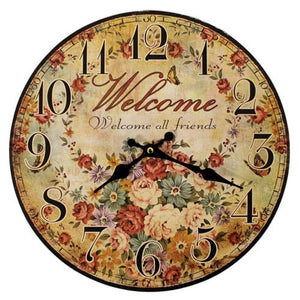 Welcome All Friends Clock