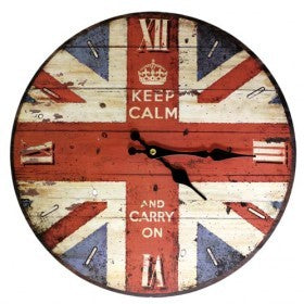 Keep Calm and Carry on Clock