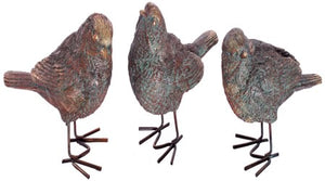 Bronze-effect Bird Ornament (3 Birds)