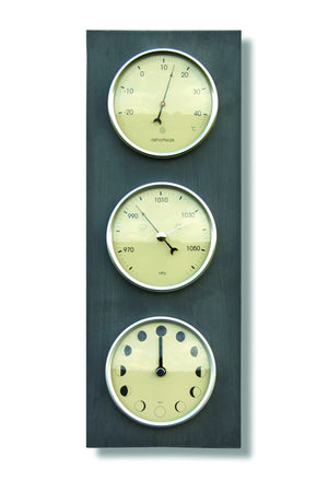 Eco Recycled Moon, Thermometer & Barometer
