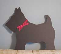 Hand Made Scotty Dog Chalkboard