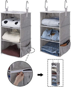 Amazon has these StorageWorks 2 Pcs Detachable 3-Shelf Hanging Closet Organizers for Only $12 Shipped (Was $29.99)!!!
