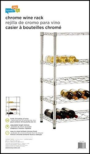 Honey-Can-Do SHF-03617 4-Tier Steel Wire Urban Wine Bottle Rack, Chrome