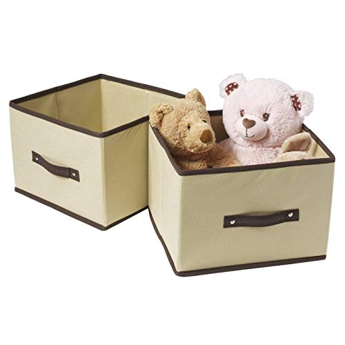 "Ziz Home Foldable Cube Storage Bin 11.2""x10.6""x7.9"" (Set of 2 Shelf Cubes) Fabric Organizer 