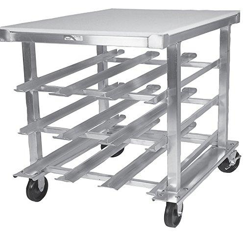 "Winholt CR-72M Mobile Can Dispensing Racks, Aluminum, Half Size, 27 1/2"" Width x 35"" Length x 40"" Height"