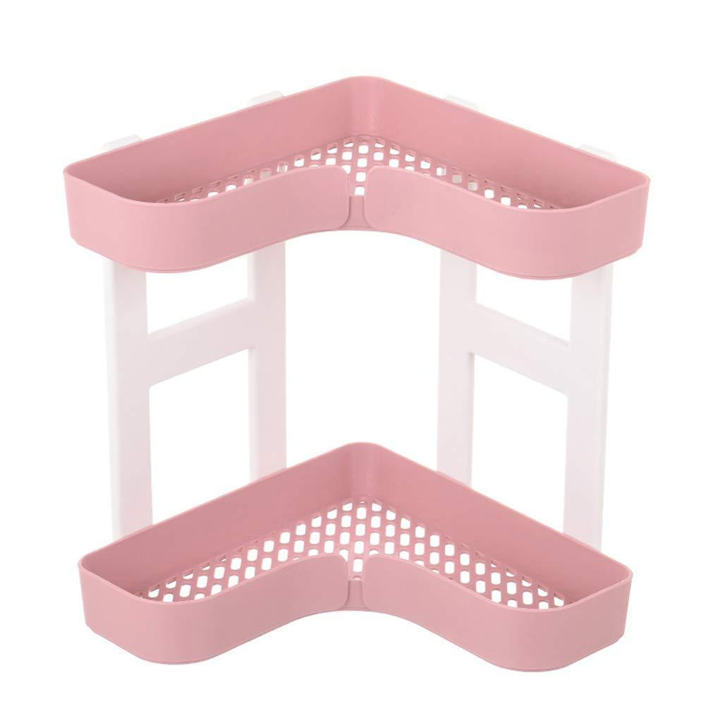 Products feoowv 2 tier kitchen countertop corner storage rack bathroom corner shelf space saving organizer for spice jars bottle holder stylec pink