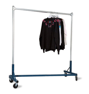 SSWBasics Super Heavy-Duty Single-Rail Z-Truck Clothing Rack - Rack Holds 500lbs
